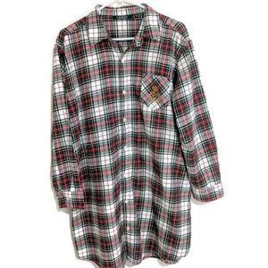 Lauren Ralph Lauren Womens Flannel Shirt size L